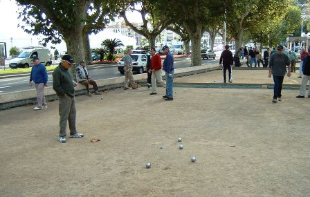 petanque players in Cannes France 2003